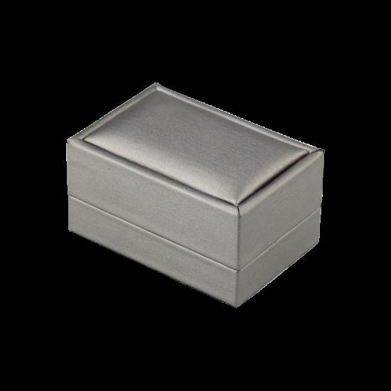 Футляр / упаковка ювелирных изделий премиум серая FK-135