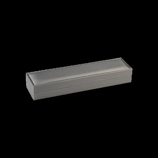 Футляр / упаковка ювелирных изделий премиум длинная серая FK-136