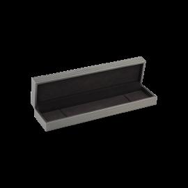 Футляр / упаковка ювелирных изделий премиум длинная серая