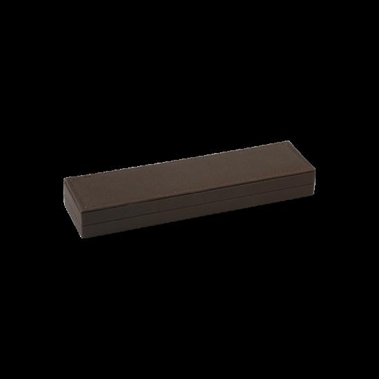 Футляр / упаковка ювелирных изделий премиум длинная коричневая FK-138