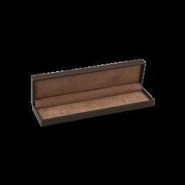 Футляр / упаковка ювелирных изделий премиум длинная коричневая