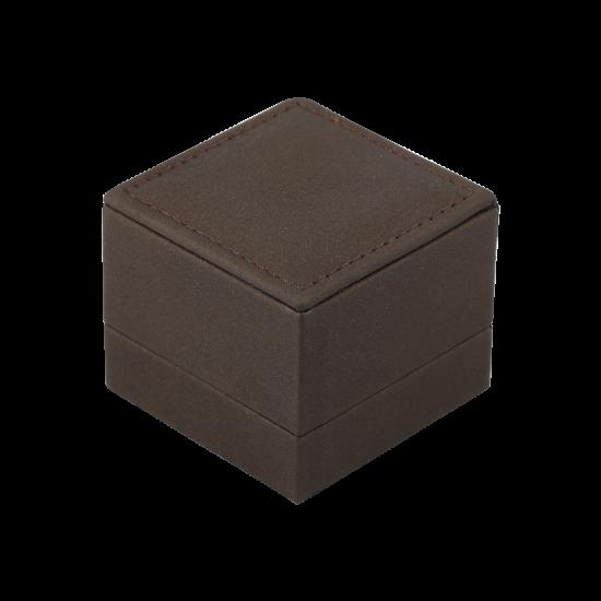Футляр / упаковка ювелирных изделий премиум квадрат коричневая FK-139
