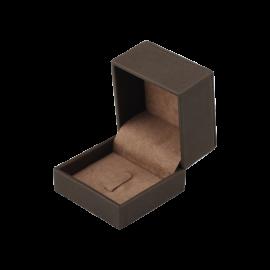 Футляр / упаковка ювелирных изделий премиум квадрат коричневая