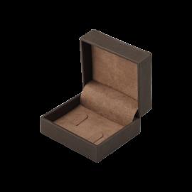 Футляр / упаковка ювелирных изделий премиум коричневая