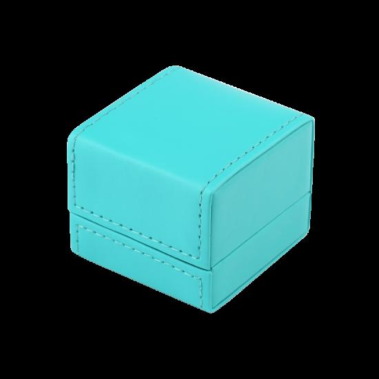 Футляр / упаковка ювелирных изделий премиум квадрат голубая FK-141