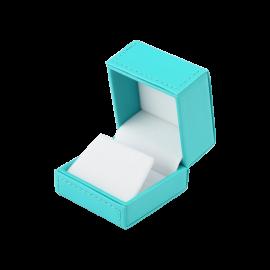 Футляр / упаковка ювелирных изделий премиум квадрат голубая