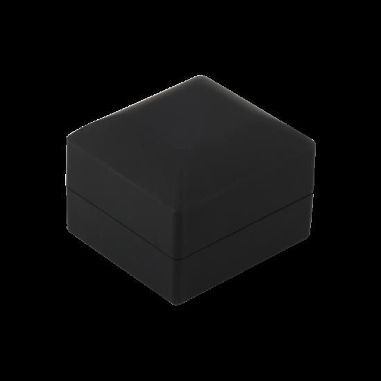 Футляр / упаковка ювелирных изделий премиум квадрат черная с подсветкой FK-143