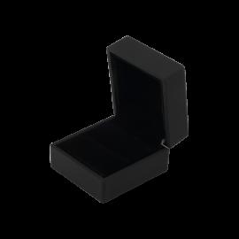 Футляр / упаковка ювелирных изделий премиум квадрат черная с подсветкой