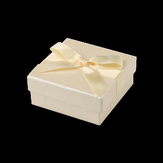 Футляр / упаковка ювелирных изделий бантик кремовая FK-144
