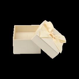 Футляр / упаковка ювелірних виробів бантик кремова
