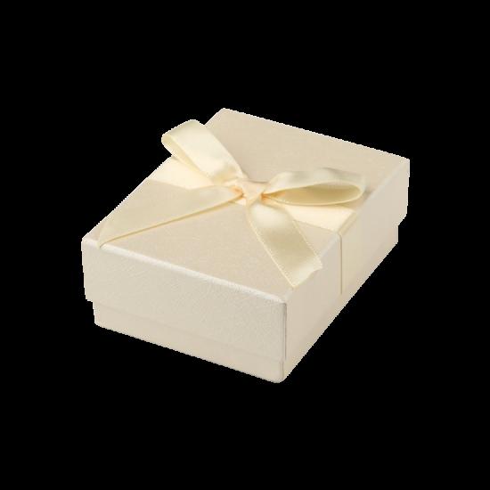 Футляр / упаковка ювелирных изделий бантик кремовая FK-146