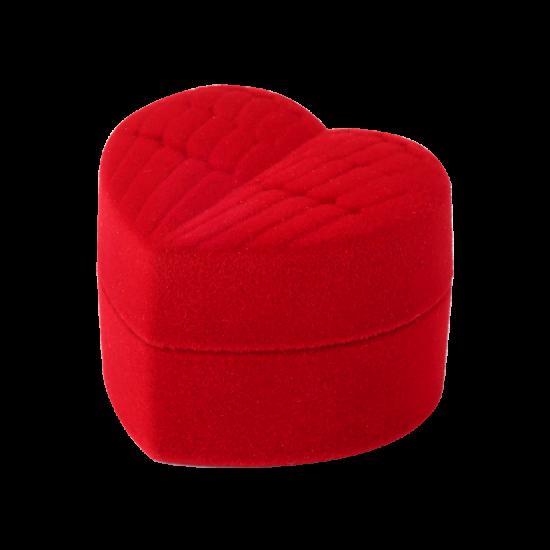 Футляр / упаковка ювелирных изделий бархат крылья ангела красная FK-151