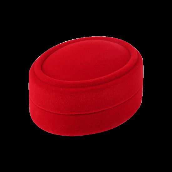 Футляр / упаковка ювелирных изделий бархат овал красная FK-153