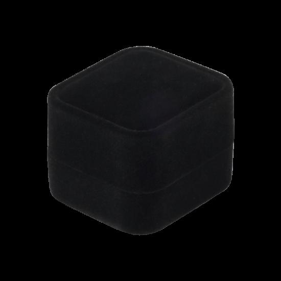 Футляр / упаковка ювелирных изделий бархат квадрат черная FK-155