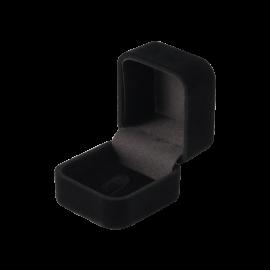 Футляр / упаковка ювелірних виробів оксамит квадрат чорна