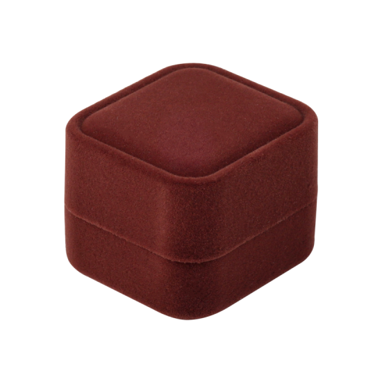 Футляр / упаковка ювелирных изделий бархат квадрат коричневая FK-156