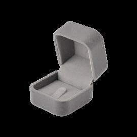 Футляр / упаковка ювелірних виробів оксамит квадрат сіра