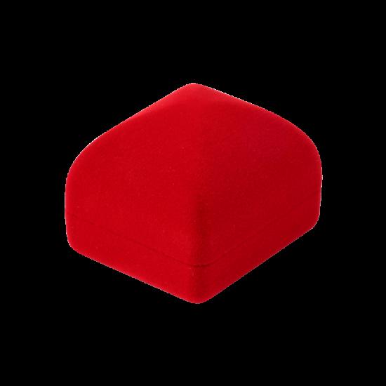 Футляр / упаковка ювелирных изделий бархат квадрат красная FK-158