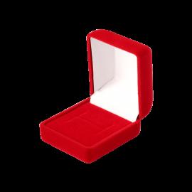 Футляр / упаковка ювелирных изделий бархат квадрат красная