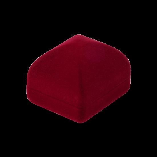 Футляр / упаковка ювелирных изделий бархат квадрат бордовая FK-159