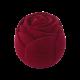 Футляр / упаковка ювелирных изделий бархат Роза бордовая FK-161