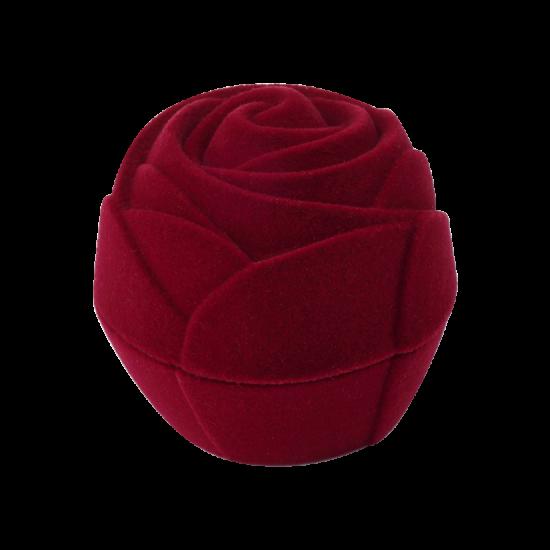 Футляр / упаковка ювелирных изделий бархат Роза бордовая FK-162