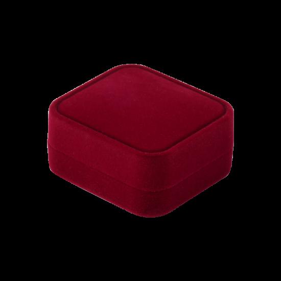 Футляр / упаковка ювелирных изделий бархат прямоугольник бордовая FK-165