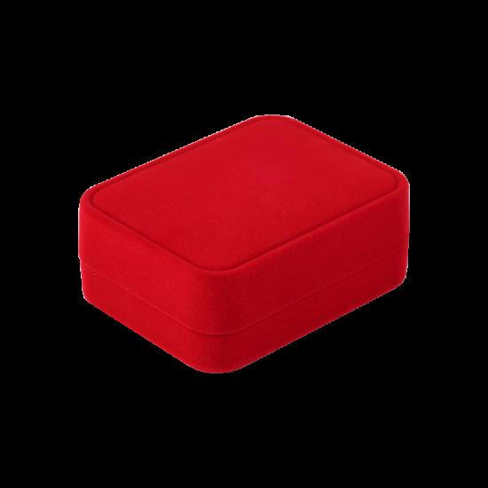Футляр / упаковка ювелирных изделий бархат прямоугольник красная FK-166