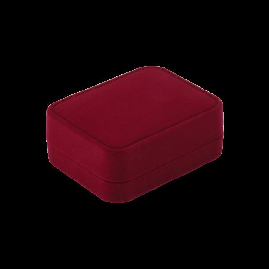 Футляр / упаковка ювелирных изделий бархат прямоугольник красная FK-167