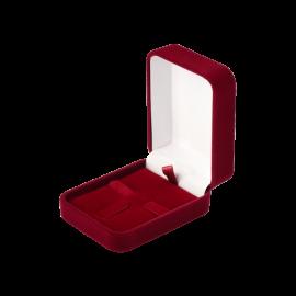 Футляр / упаковка ювелірних виробів оксамит прямокутник бордо
