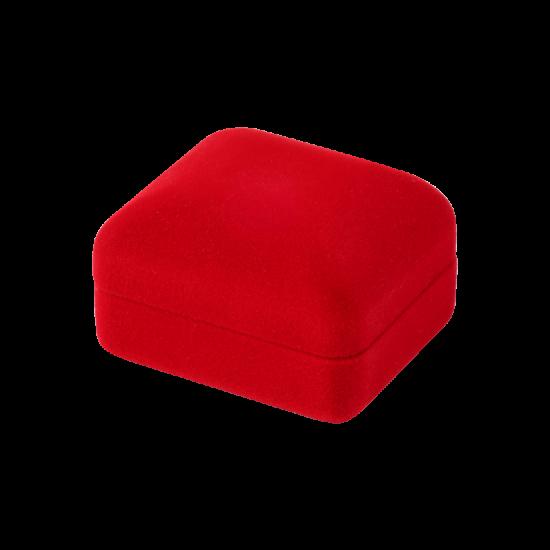 Футляр / упаковка ювелирных изделий бархат прямоугольник красная FK-168