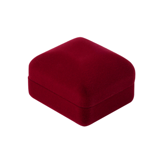 Футляр / упаковка ювелирных изделий бархат прямоугольник бордовая FK-169