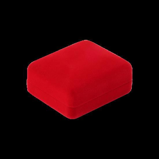 Футляр / упаковка ювелирных изделий бархат прямоугольник красная FK-170