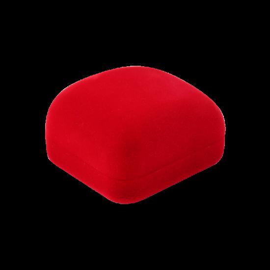 Футляр / упаковка ювелирных изделий бархат квадрат красная FK-172