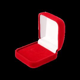 Футляр / упаковка ювелірних виробів оксамит квадрат червона