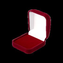 Футляр / упаковка ювелірних виробів оксамит квадрат бордо
