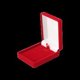 Футляр / упаковка ювелірних виробів оксамит прямокутник червона