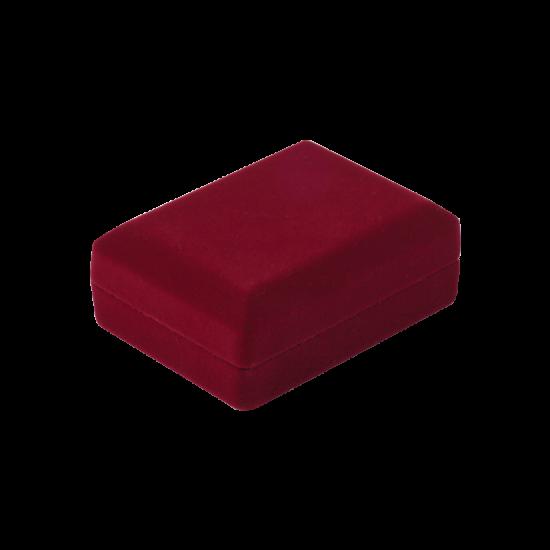 Футляр / упаковка ювелирных изделий бархат прямоугольник бордовая FK-175