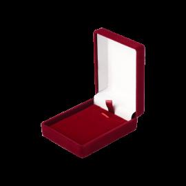 Футляр / упаковка ювелирных изделий бархат прямоугольник бордовая