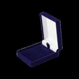 Футляр / упаковка ювелірних виробів оксамит прямокутник темно-синя