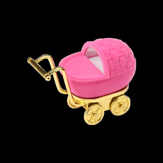 Футляр / упаковка ювелирных изделий детская Каляска розовая FK-178