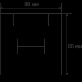 Футляр / упаковка ювелірних виробів чорна із чорним бантом