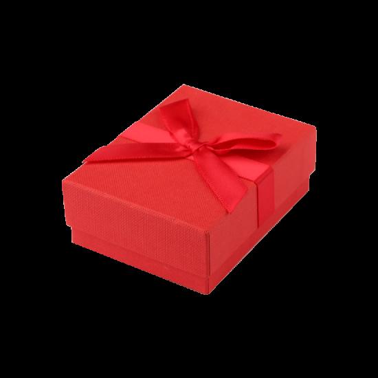Футляр / упаковка ювелирных изделий бантик красная FK-182