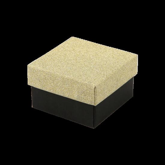 Футляр / упаковка ювелирных изделий черная с золотом FK-185