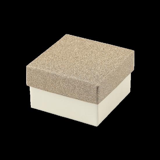 Футляр / упаковка ювелирных изделий кремовая с золотом FK-186
