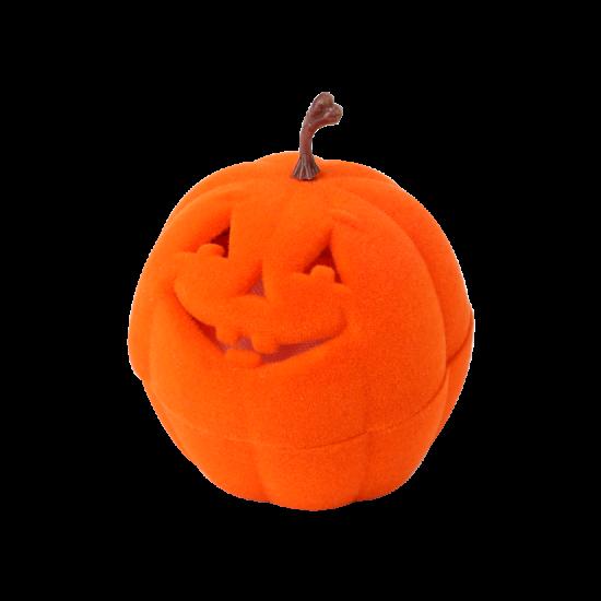 Футляр / упаковка ювелирных изделий бархат Тыква на Хеллоуин FK-191