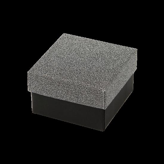 Футляр / упаковка ювелирных изделий черная с темно-серым FK-192
