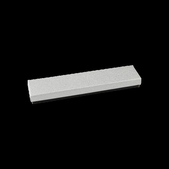 Футляр / упаковка ювелирных изделий длинная черная с серебром FK-193