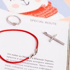Серебряное кольцо фаланговое с камнями Объединение Двух Сердец