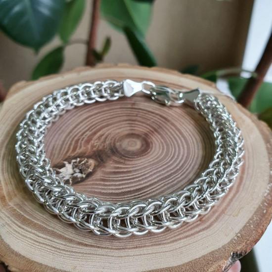 Браслет серебряный цепочка плетение Персидский кольчужный ЛПК-011